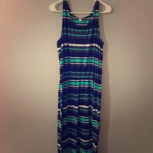 Black and blue striped dress